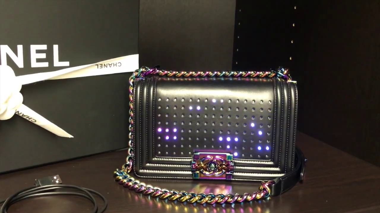 fffd2a350fed3a Chanel LED Boy Bag - YouTube