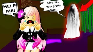 I SHOULDN'T have gone to the HAUNTED house...*WARNING SCARY* Roblox Meep City | Roblox Funny Moments
