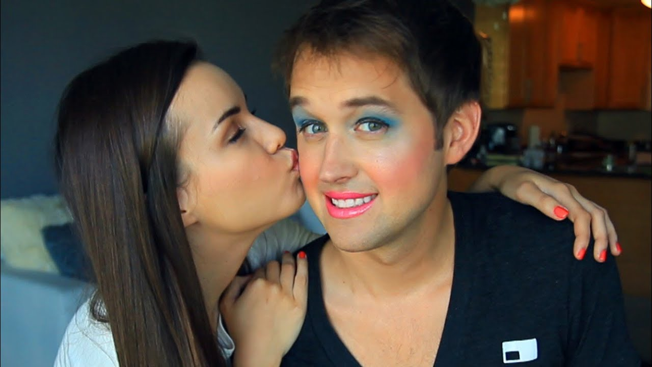My Girlfriend Does My Makeup! - YouTube