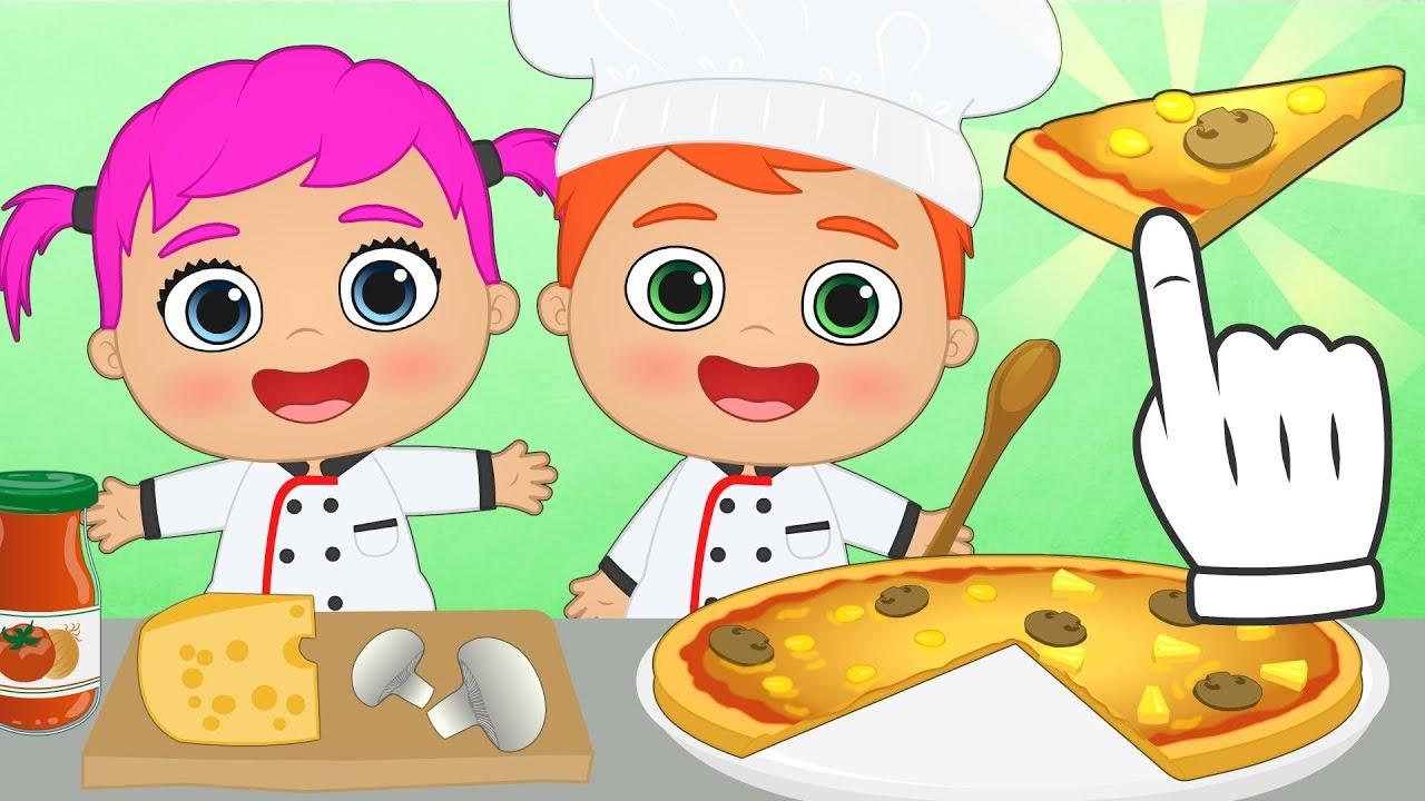 Bebes alex y lily aprende a cocinar una pizza con los for Cocinar imagenes animadas