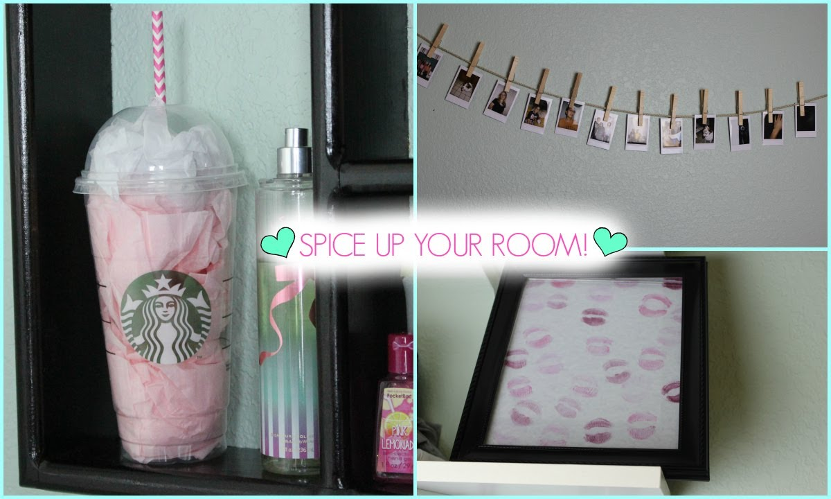Diy quick easy room decor youtube for Cute easy diy bedroom ideas