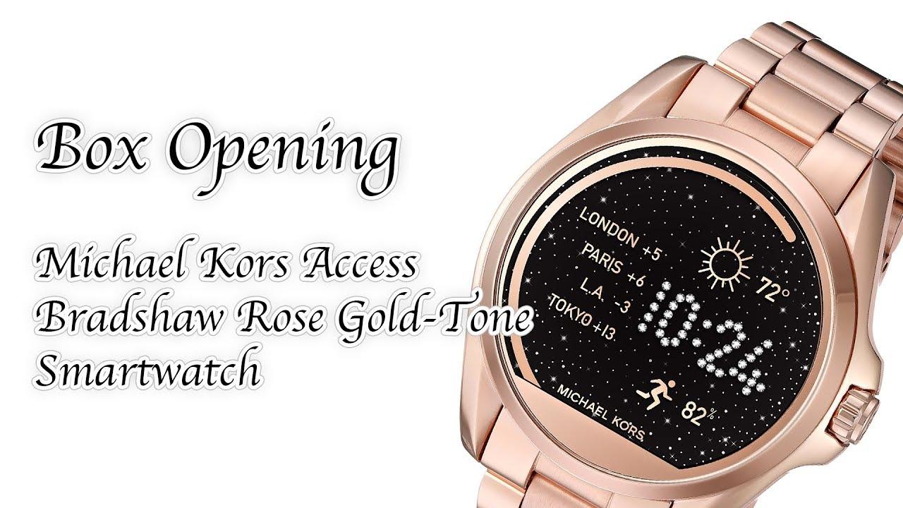 61c2c06c915 Box Opening - Michael Kors Access Bradshaw Rose Gold-Tone Smartwatch  OMG  CRAFTS