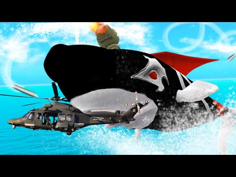 GIANT FLYING WHALE EATS EVERYTHING - Hungry Shark Evolution - Part 1 | Pungence