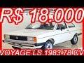 PASTORE R$ 18.000 Volkswagen Voyage LS 1983 Branco Paina aro 13 MT5 1.5 78 cv 11,5 kgfm #VWVoyage