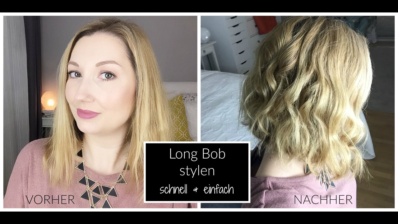 Long Bob Wellig Stylen Schnell & Easy BeautyThoughtsbyAlex YouTube