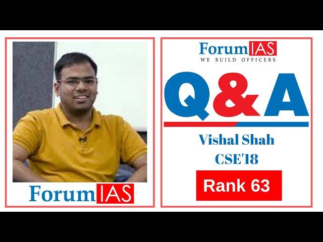 Sociology Topper Vishal Shah AIR 63 CSE 2018| 3rd Attempt