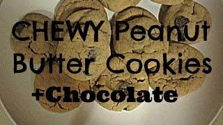 Chewy Peanut Butter+chocolate Chip Cookies {week 1}