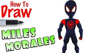How to Draw Miles Morales | Spider-Man
