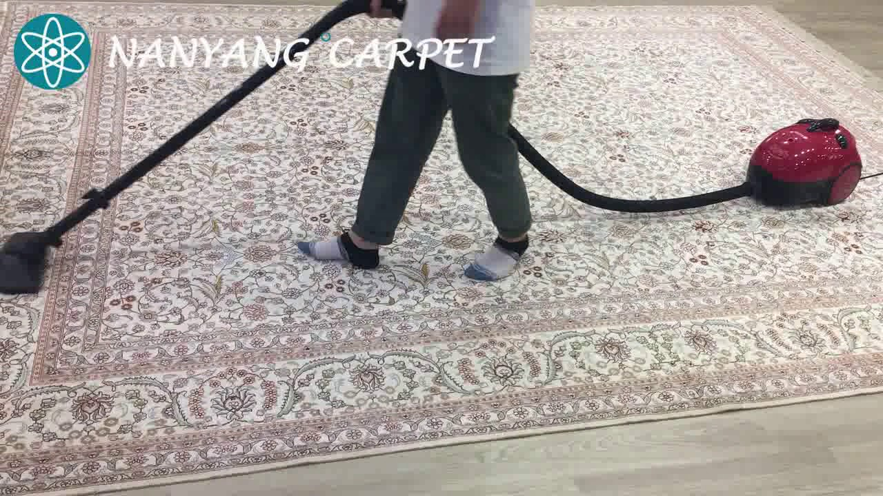 How To Clean Handmade Silk Rug By The Vacuum Cleaner Youtube