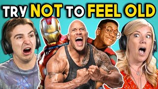 Download ADULTS REACT TO TRY NOT TO FEEL OLD CHALLENGE #4 Mp3 and Videos