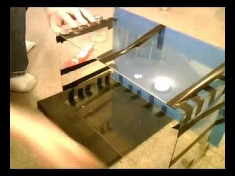 How to make a fish tank diy acrylic aquarium part 4 gluing for How to build an acrylic fish tank
