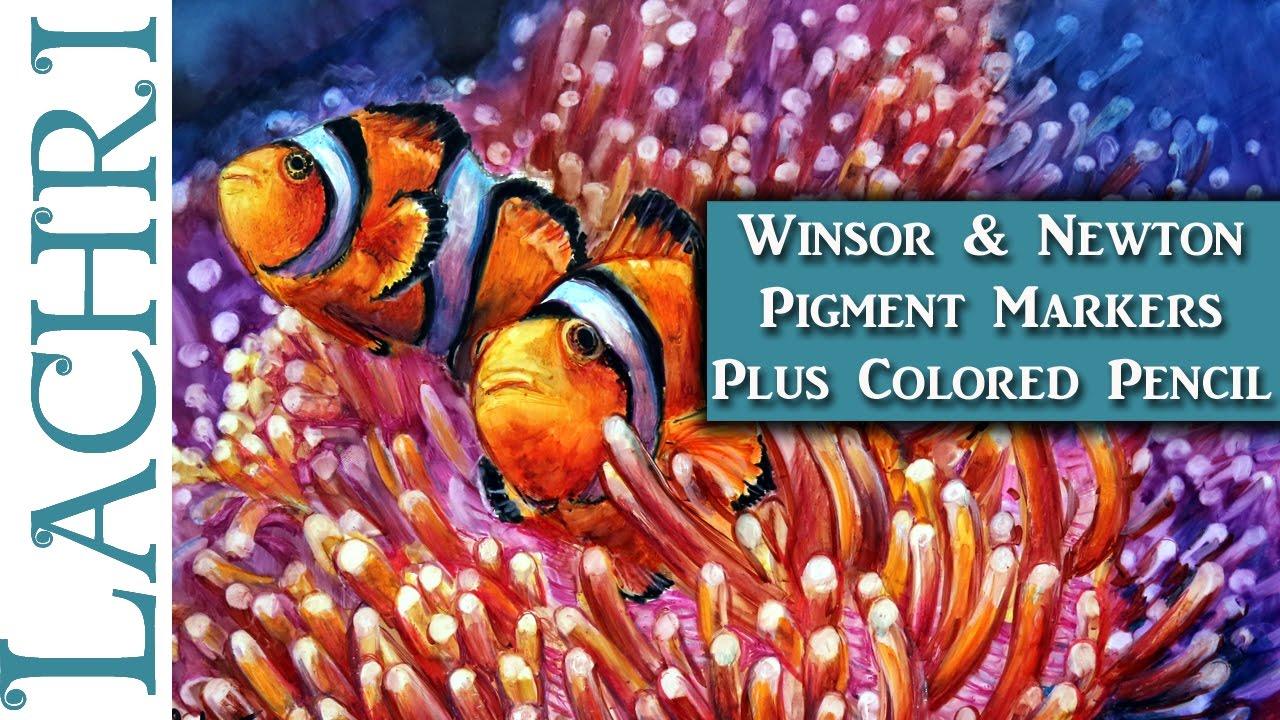 Winsor & Newton Pigment Marker Clownfish - Tips & Techniques w ...