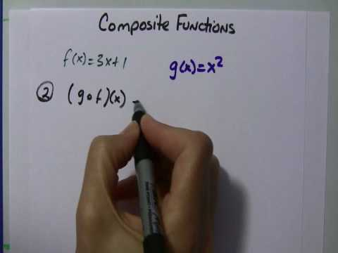Alg II: Composite Functions, f(g(x))
