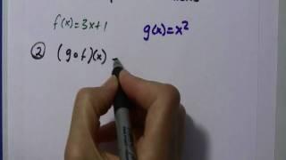 Alg II: Composite Functions, f(g(x))