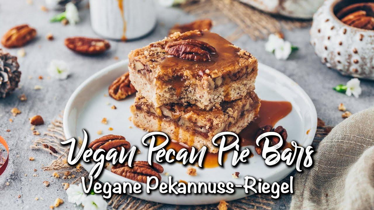 Pekannuss-Riegel | Vegane Nussriegel * Rezept