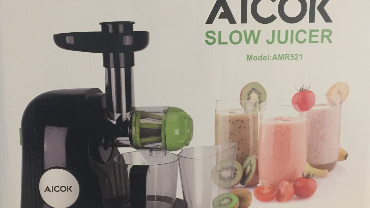 Sensio Juicer Slow Juicer Review : Aicok Slow Masticating Juicer Review and Demo - YouTube