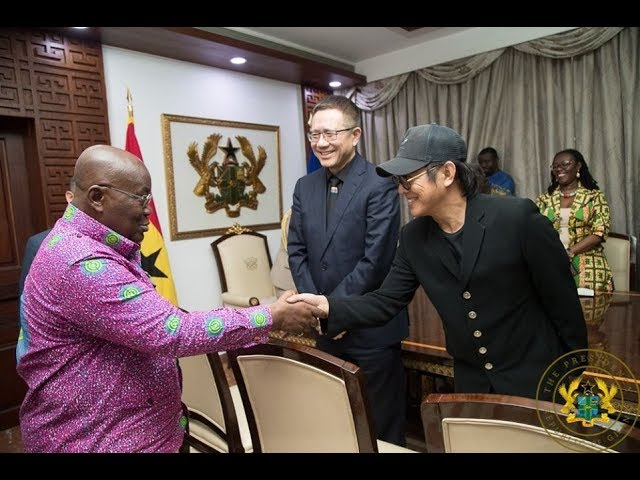 WOW! Jet Li and Chinese Billionaire Jack Ma Meets Prez. Akufo-Addo