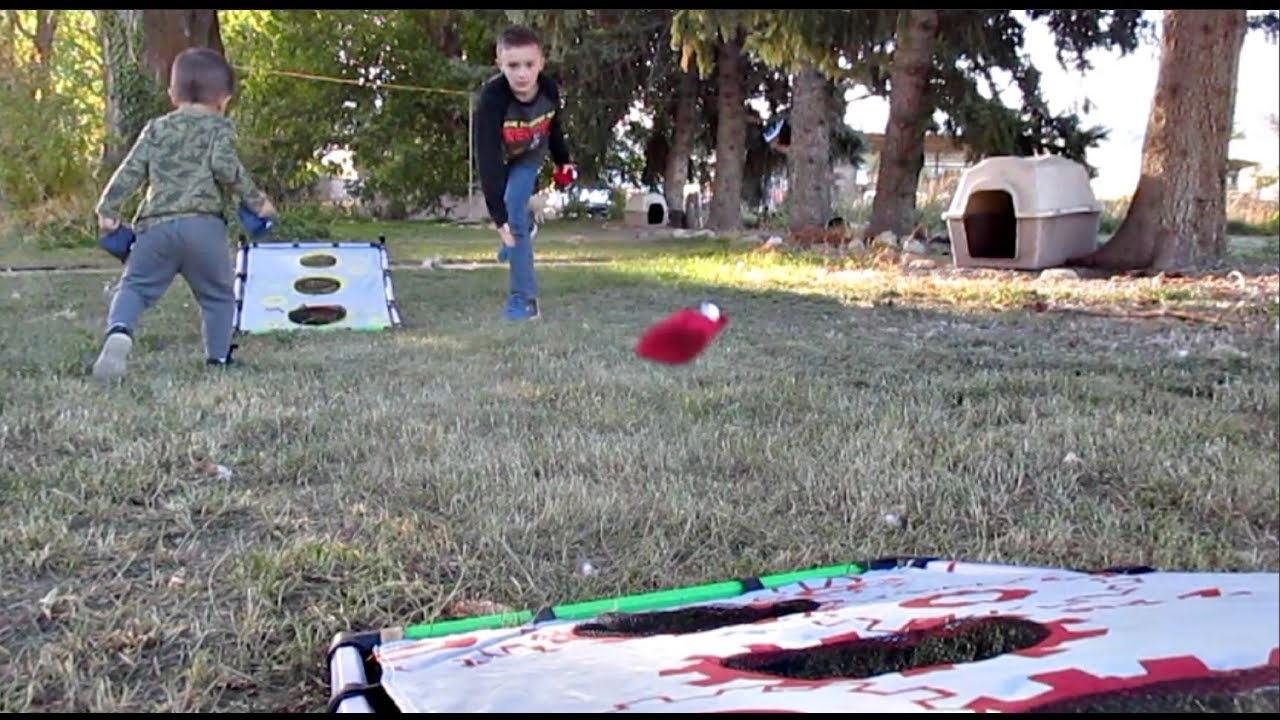 backyard family game night and potty training fail youtube