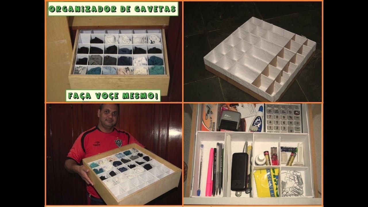 Organizador de Gavetas Faça o seu você mesmo!   #B59616 1074x797