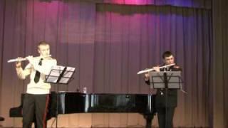 "Flute duet - Haydn: ""Echo"" Finale. Presto. (МВМУ)"