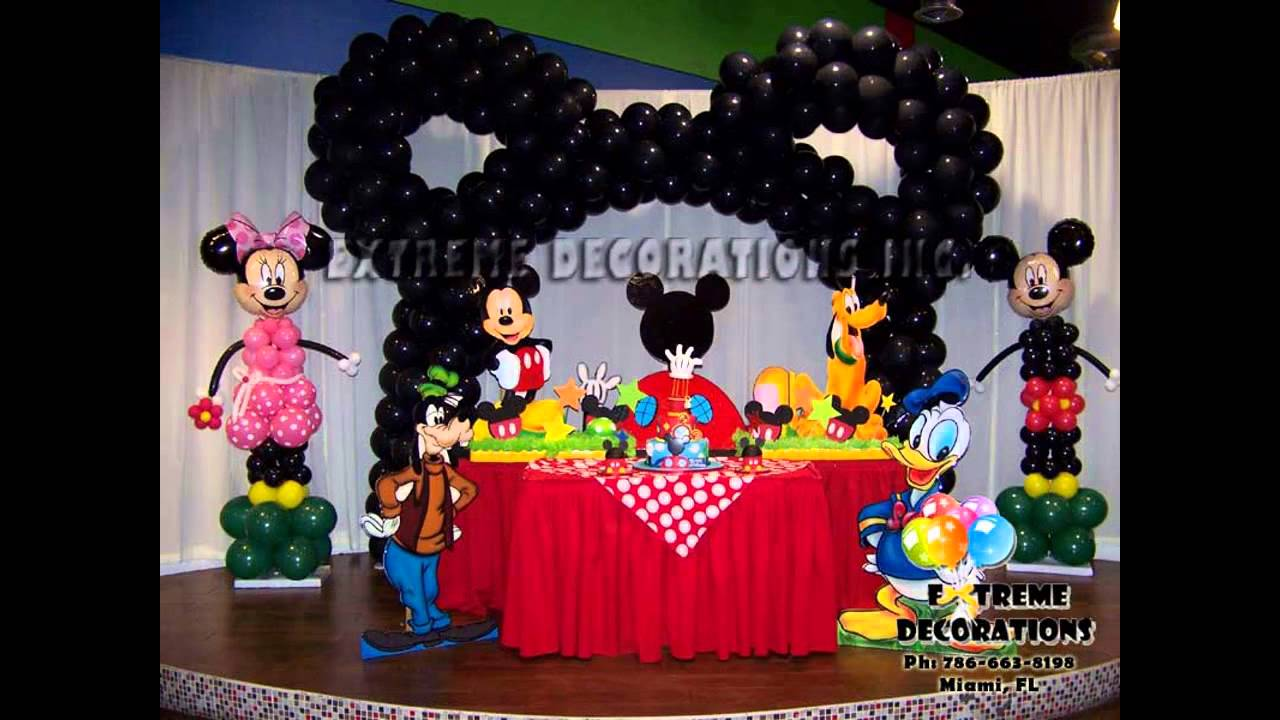 Best Mickey Mouse Clubhouse Birthday Party Decoration