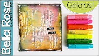 Gelatos Art Journal Background | Easy Technique for Beginners | Mixed Media Art Journal