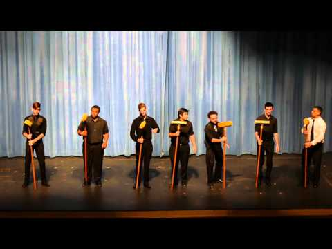Mandeville HIgh School Skipper Band - Spring Concert 2016 - Broom Percussion