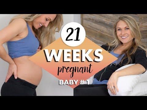 21 WEEKS PREGNANT UPDATE // New Body Pillow, Braxton Hicks & Bump Update