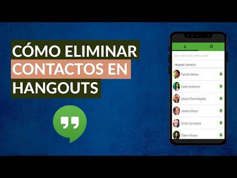 Cómo Eliminar Contactos de Google Hangouts