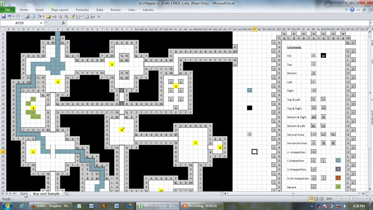 Simple Free Xls Mapper Mapping Tool Dungeon Maker