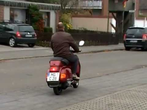 vespa cosa 200 testfahrt youtube. Black Bedroom Furniture Sets. Home Design Ideas