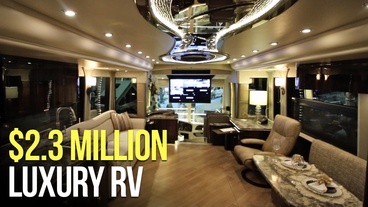 2 3 million motorhome rv tour millennium prevost youtube for Million dollar motor coaches