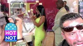 Kim and Kanye Ice Cream Chaos in South Beach, Miami