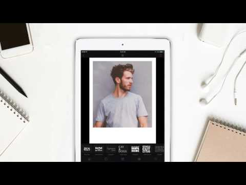 Create polaroid in 60 Seconds - Cameraxis iPhone/iPad free app - YouTube