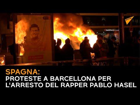 Spagna: Proteste a Barcellona per l'arresto del rapper Pablo Hasel