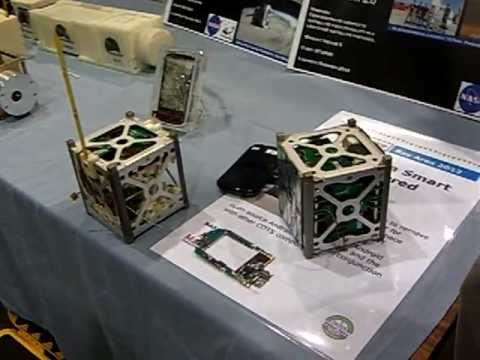 NANOSAT HTC smart Phone-Satellite OS Android in a 10cm cube - To be Launched Summer 2013 NASA