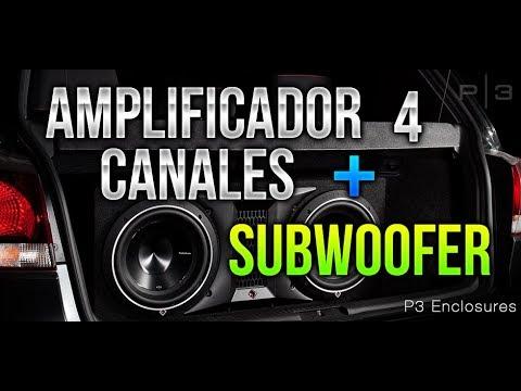 COMO INSTALAR SUBWOOFER EN AMPLIFICADOR DE 4 CANALES / SONIDO ANTES Y DESPUES