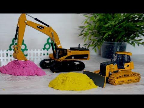 Строительные машины. Игры с песком. Самосвал, Бульдозер, Экскаватор