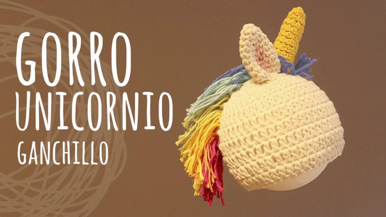 Tutorial Gorro Unicornio Fácil y Rápido Todas las Tallas Crochet ...
