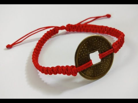 Chinese Coin Red Cord Bracelet