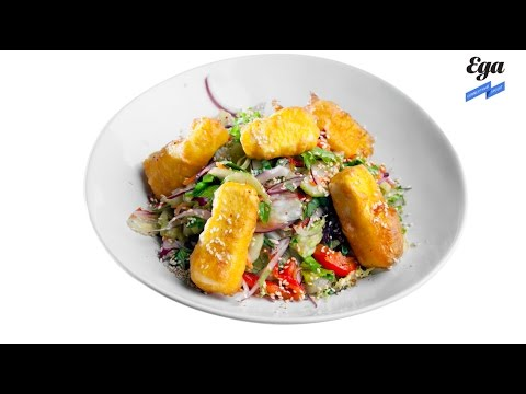 Салат с жареным тофу и кунжутом. Спецпроект «Салаты для начала весны»