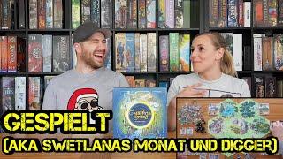 Gespielt! (aka Swetlanas Monat .... und Digger) - Folge 10 - Brettspiele - Boardgame Digger