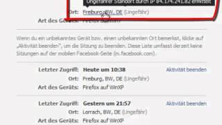 Facebook - Überprüfung Log-in