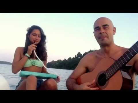 Waltz for Django - Antonio Forcione & Maya Forcione on a pedalo in Lefkas 23.07.13