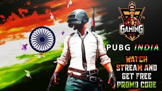 PUBG MOBILE LIVE #4017 FREE PROMO CODE ON LIVESTREAM TOURNAMENT GAMING POINT APP