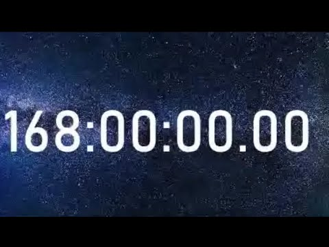 1 Week 168 Hour Timer Countdown With Alarm Sound / 168 H / 168 Hrs - Longest Video On YouTube