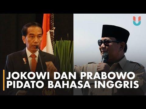 Gaya Pidato Bahasa Inggris Jokowi VS Prabowo