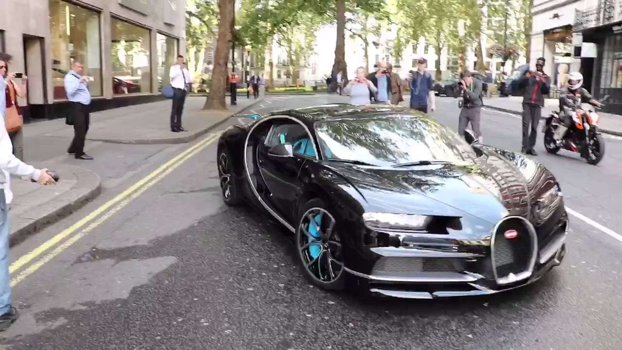 Bugatti Chiron in London - Startup - Loud Revs ! - YouTube