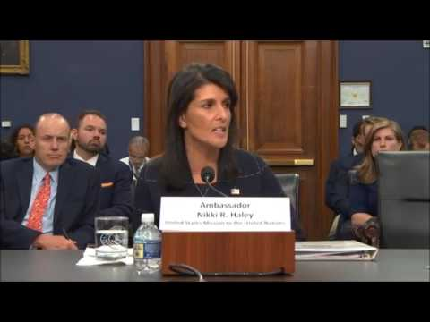 David Price Questions Nikki Haley - US Congress Budget Committee 2017