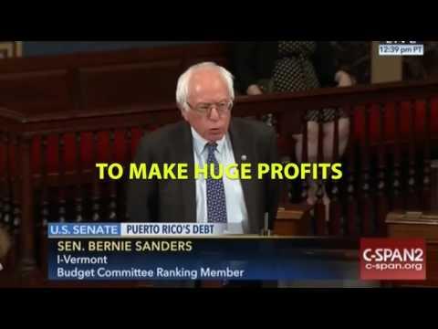 Bernie Sanders on Slams Senate on Puerto Rico Deal